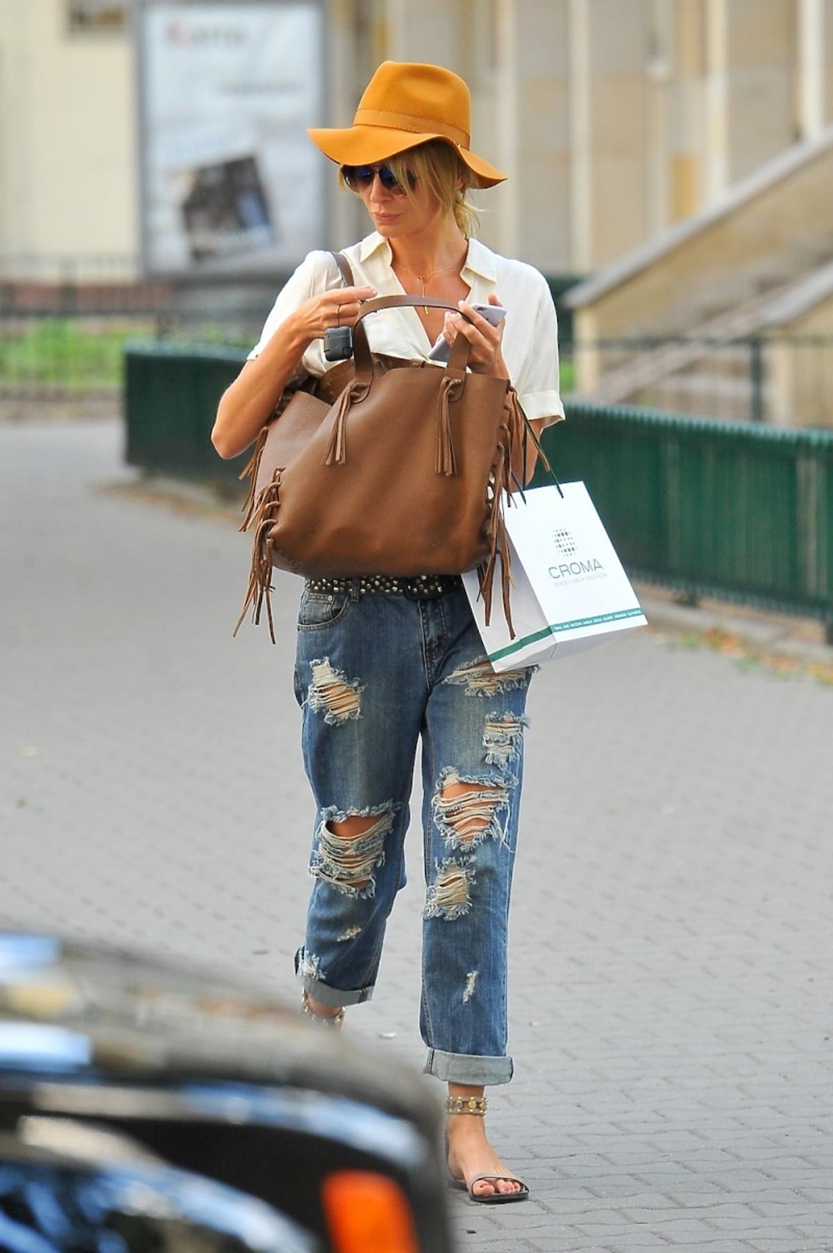 Agnieszka Szulim z torbą Valentino