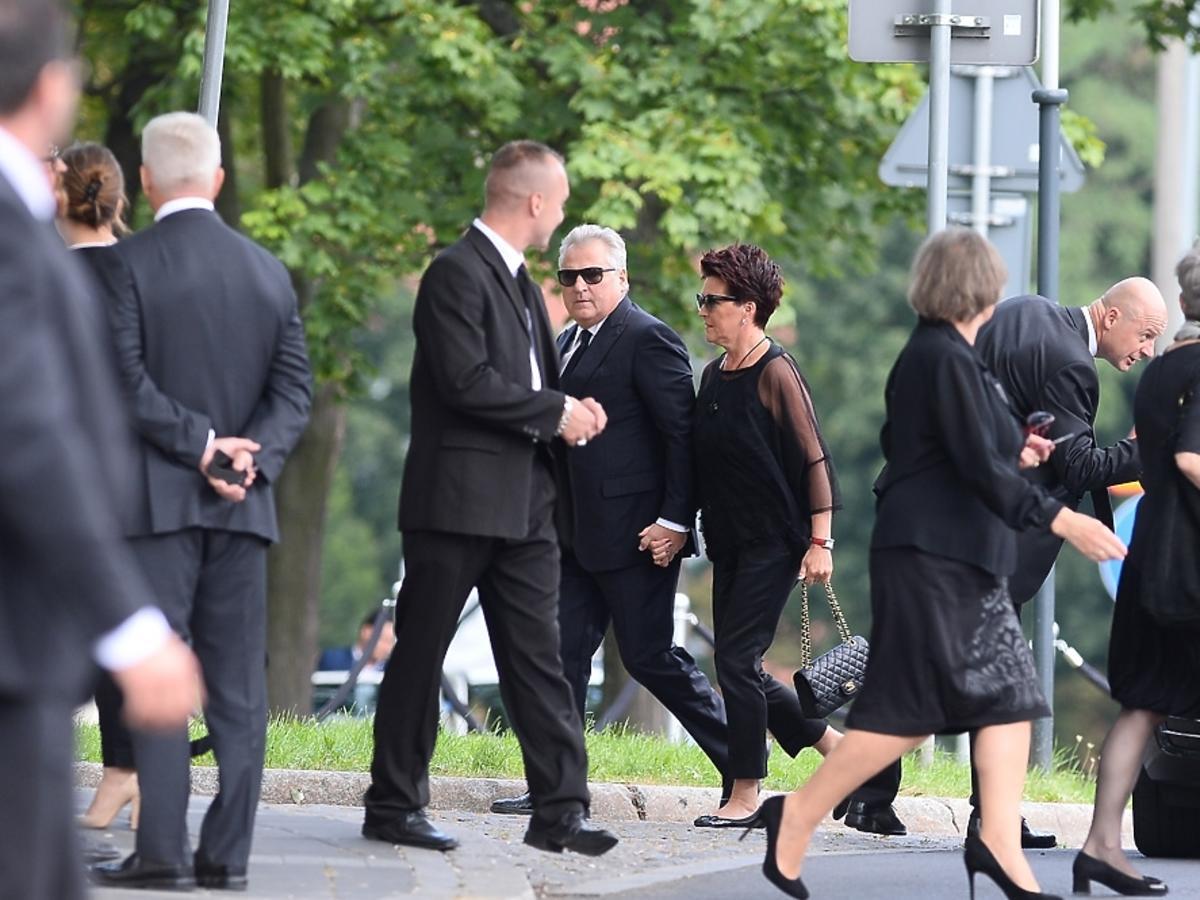 Aleksander Kwaśniewski i Jolanta Kwaśniewska na pogrzebie Jana Kulczyka