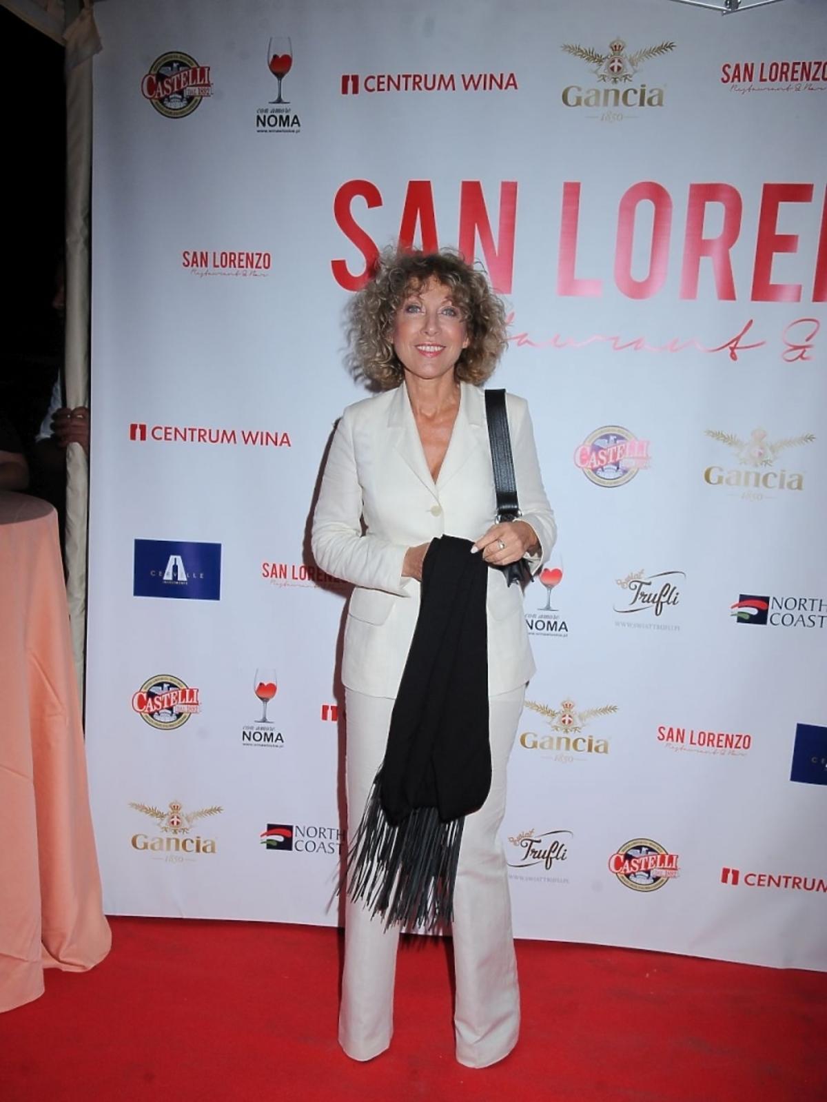 Alicja Majewska na otwarciu restauracji San Lorenzo
