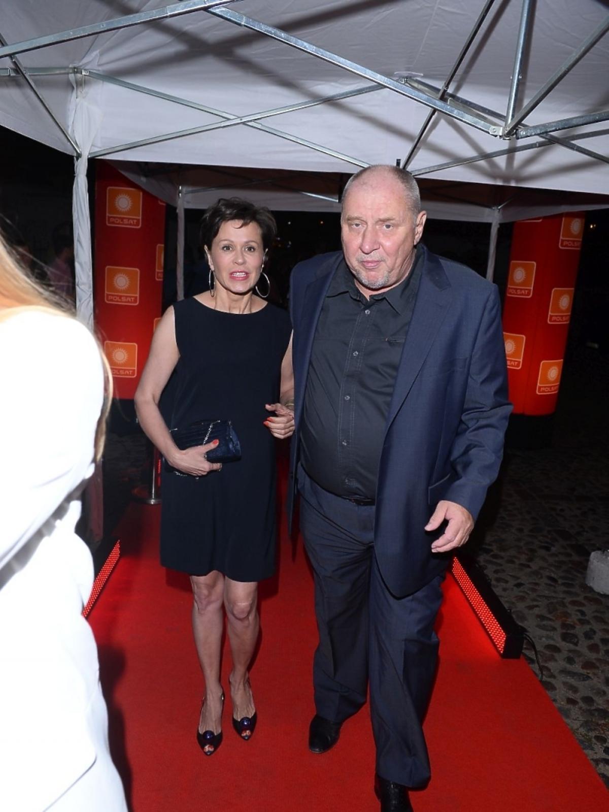 Andrzej Grabowski z żoną na jesiennej ramówce Polsatu 2015