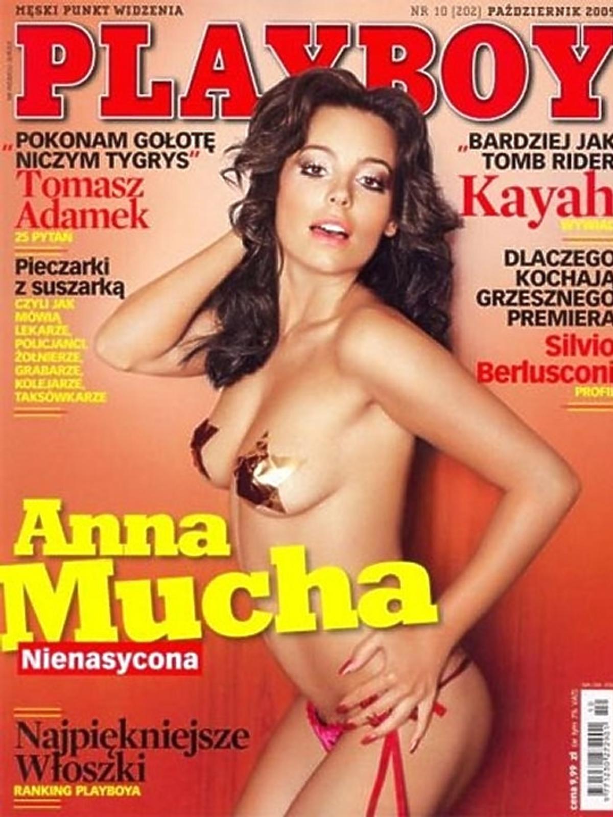 Anna Mucha na okładce Playboya
