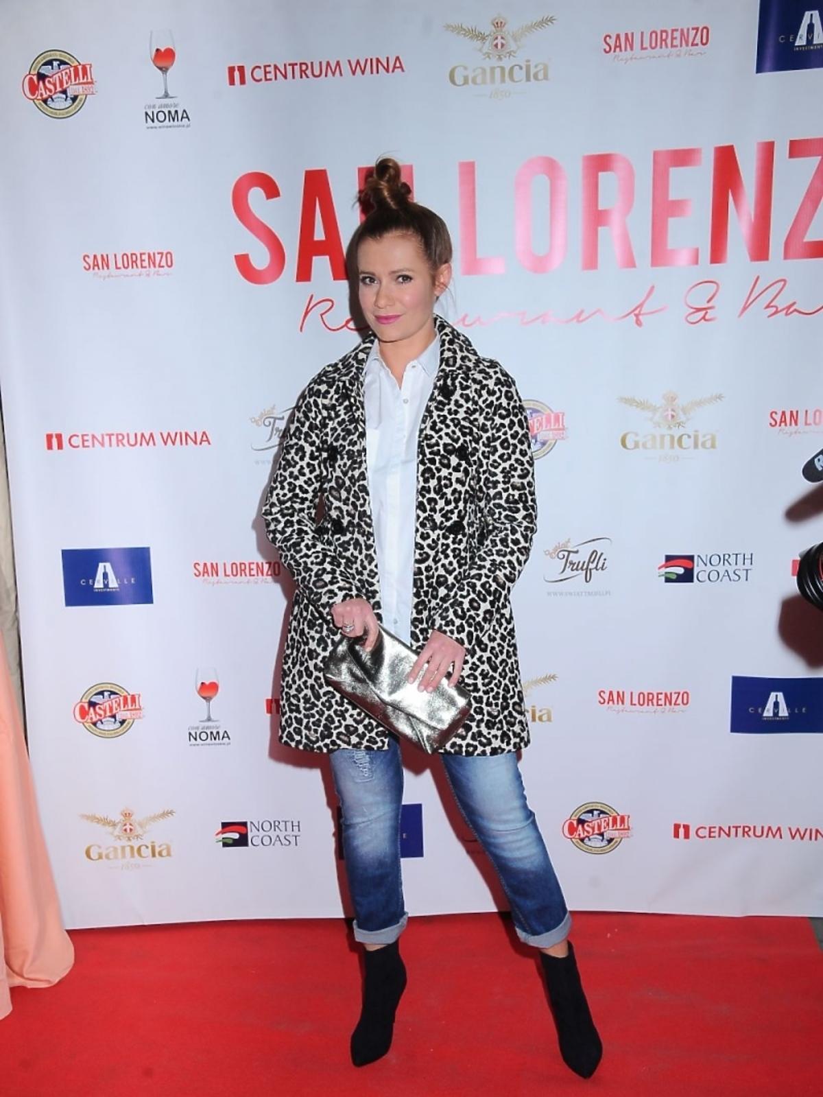 Anna Oberc na otwarciu restauracji San Lorenzo