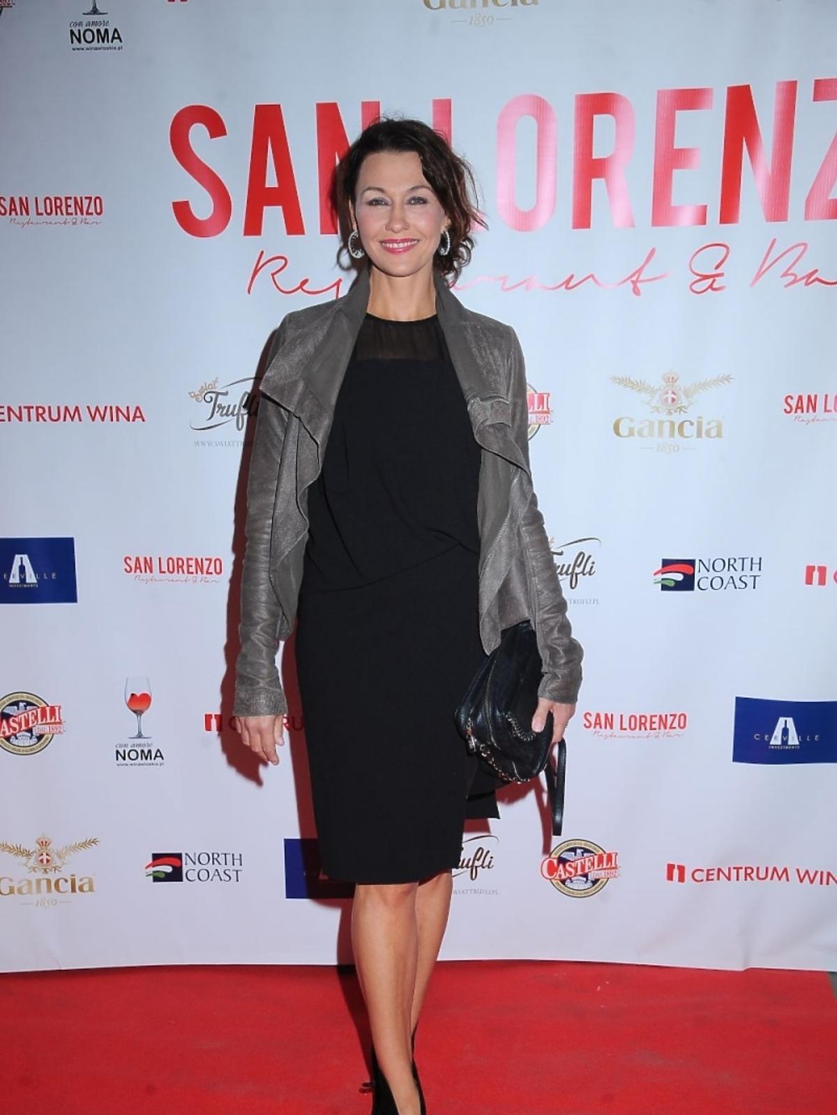 Anna Popek na otwarciu restauracji San Lorenzo