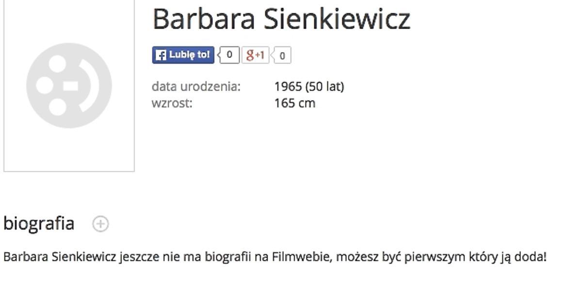 Barbara Sienkiewicz ma 50 lat?