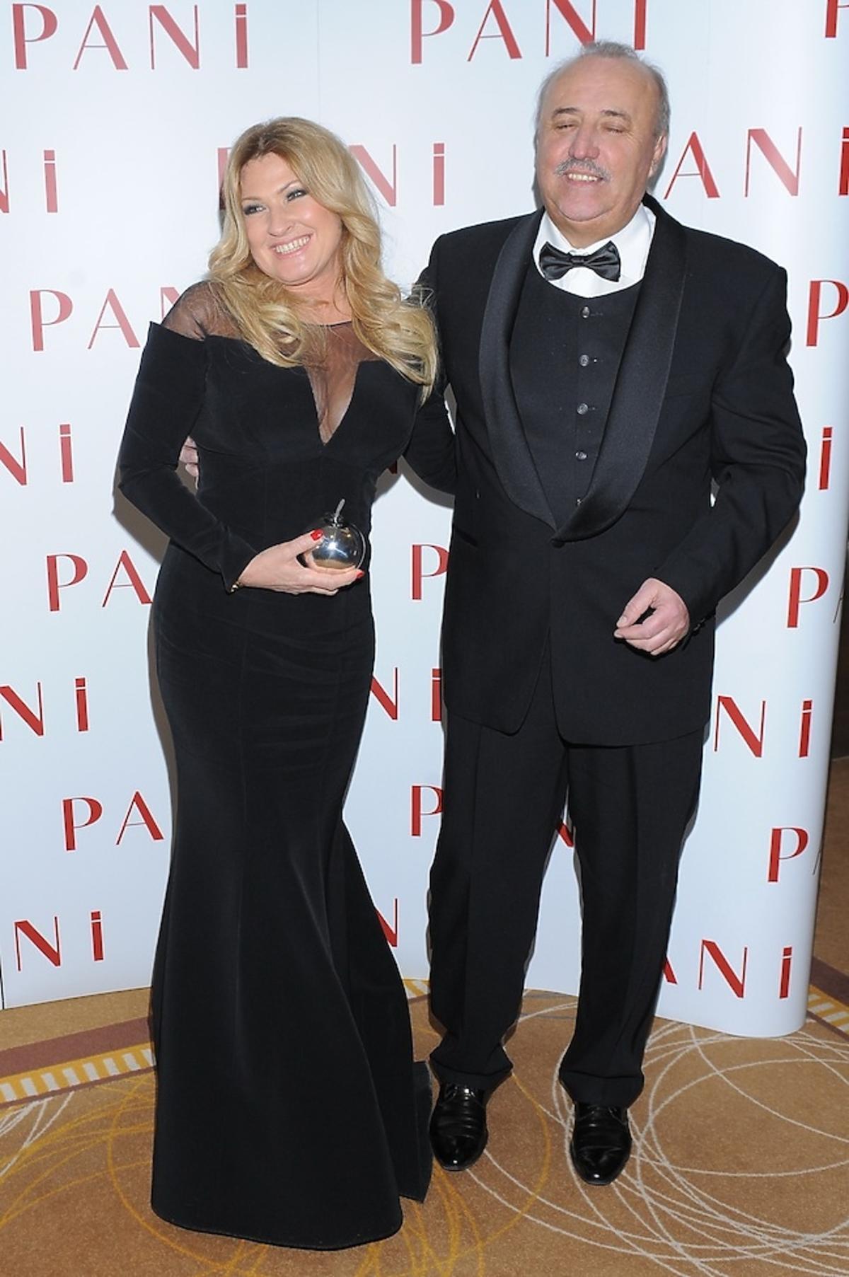 Beata Kozidrak i Andrzej Pietras na rozdaniu nagród Srebrne Jabłka Pani 2012