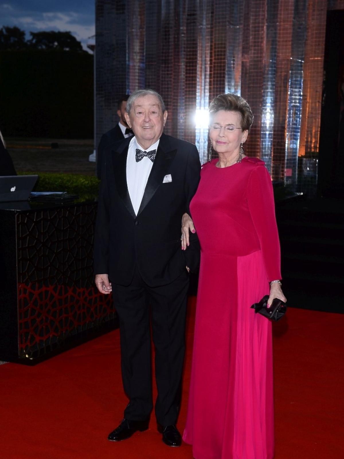 Bożena Walter z mężem na balu fundacji