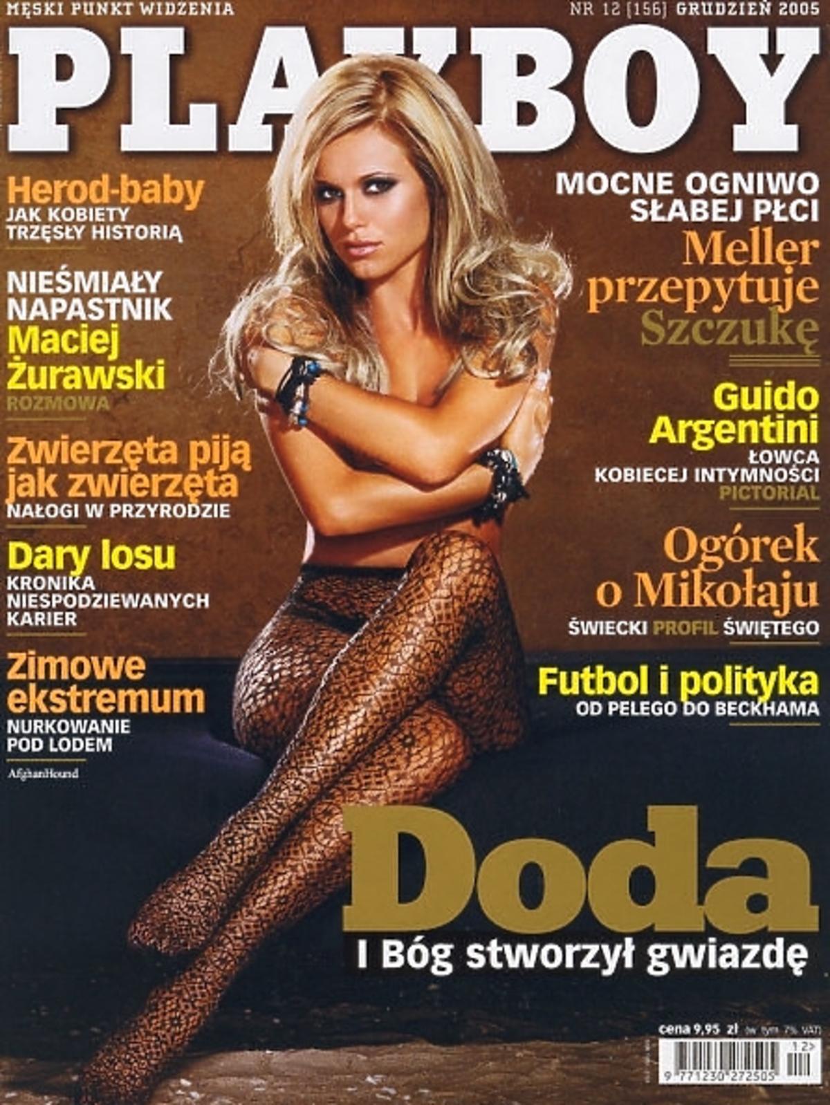 Doda na okładce Playboya