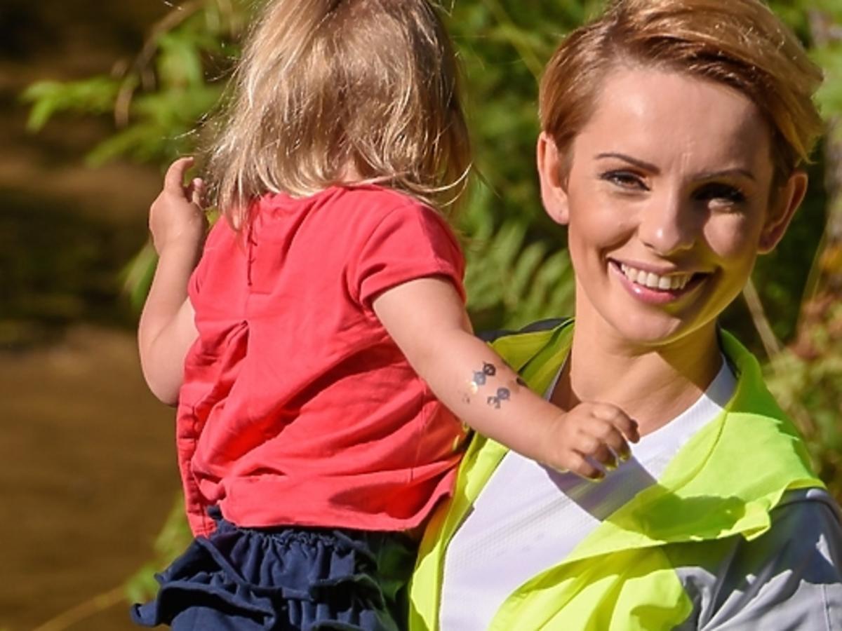 Dorota Gardias na trenignu z córką