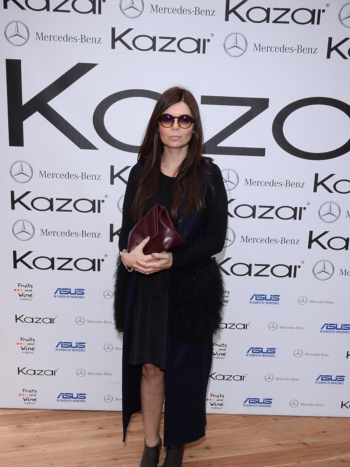 Dorota Wróblewska na pokazie kolekcji marki Kazar