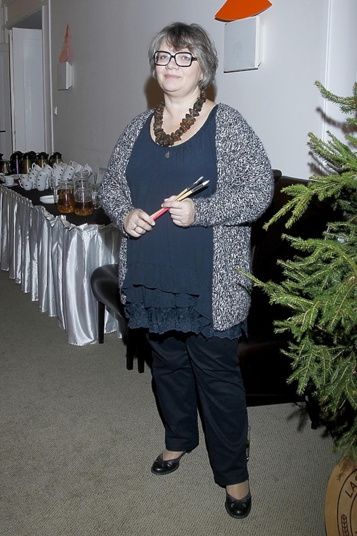 Dorota Zawadzka na spotkaniu