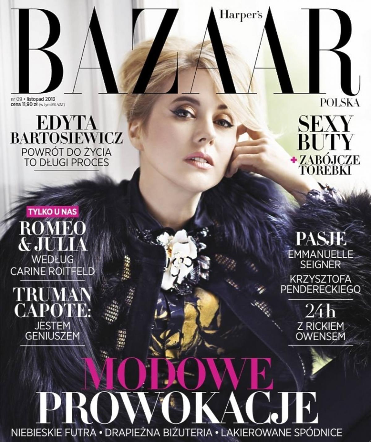 Edyta Bartosiewicz na okładce Harper's Bazaar