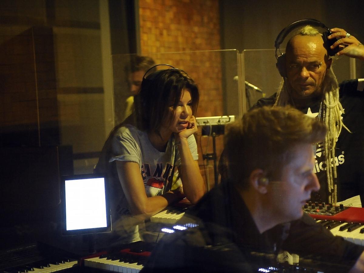 Edyta Górniak i Glaca w studiu nagraniowym
