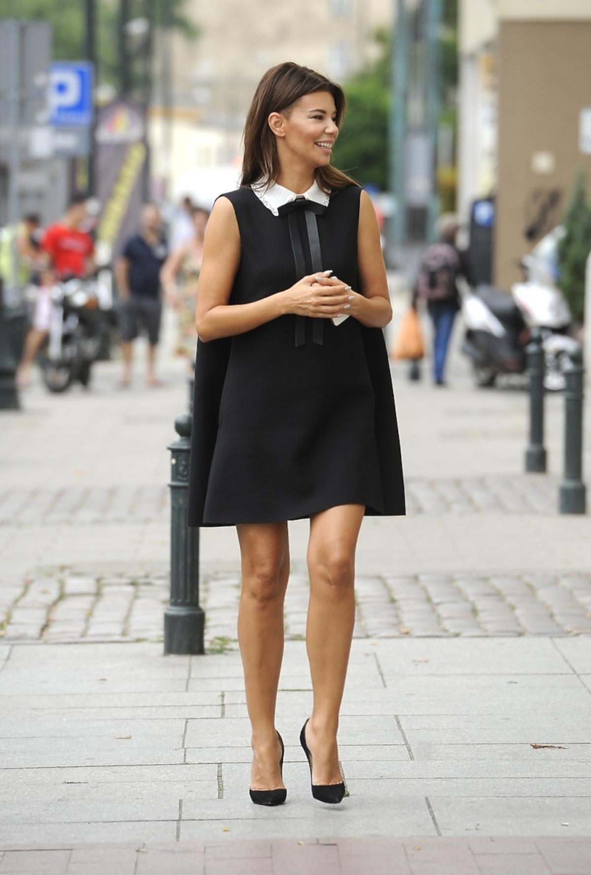 Edyta Górniak w czarnej sukience
