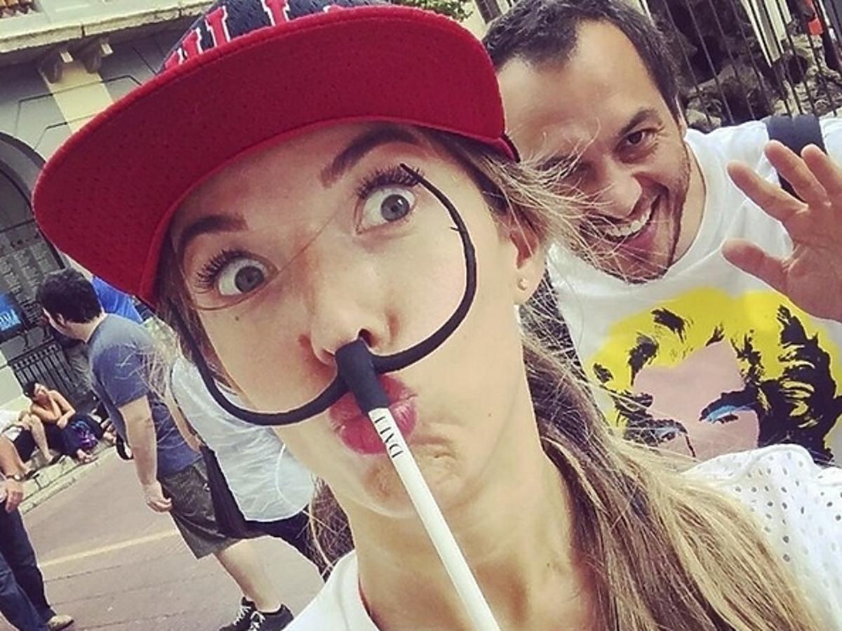 Ewa Chodakowska i Lefteris Kavoukis w Barcelonie zdjęcia