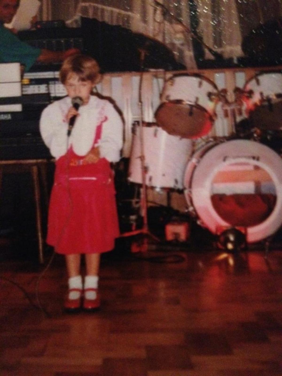 Ewelina Lisowska w dzieciństwie