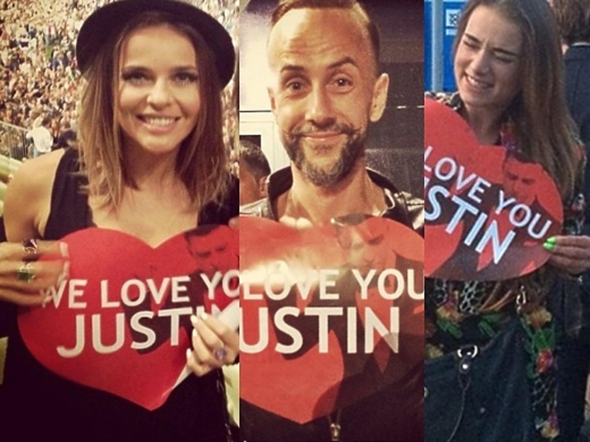 Gwiazdy na koncercie Justina Timberlake'a
