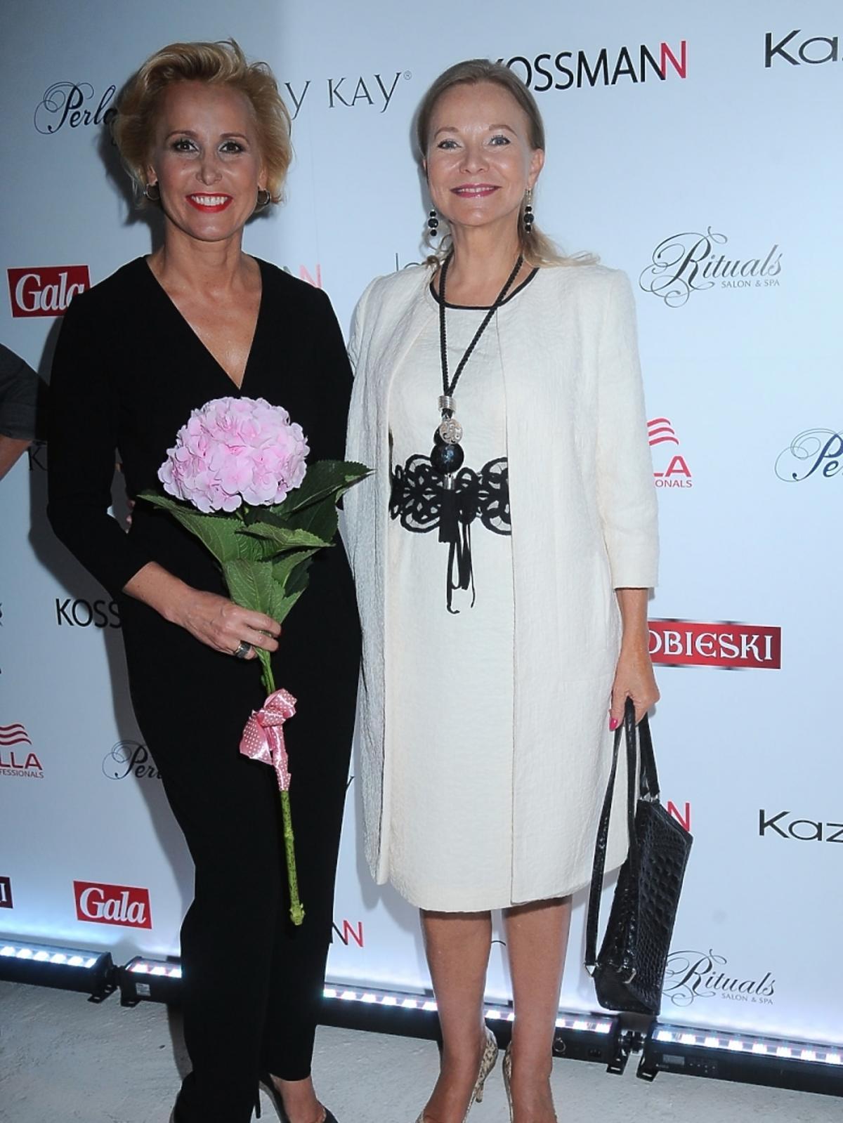Iwona Kossmann i Laura Łącz na pokazie najnowszej kolekcji Kossmann