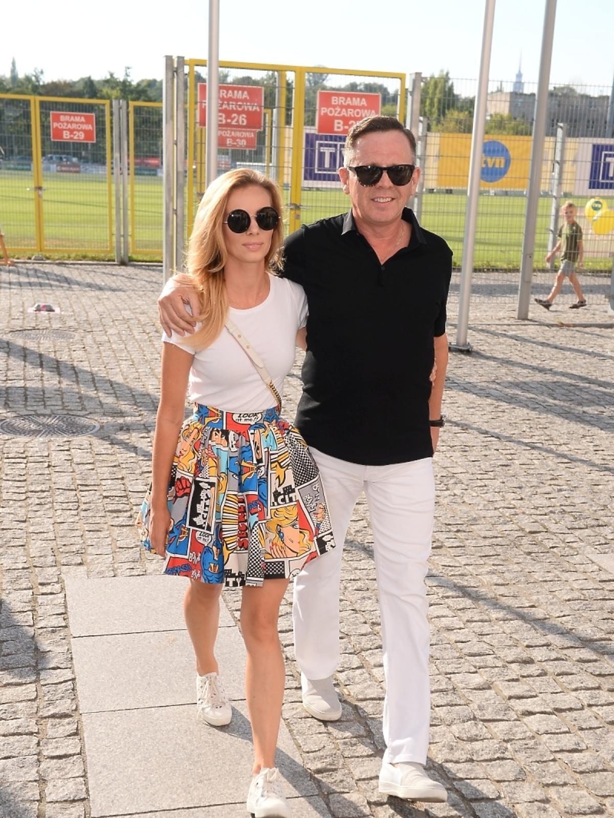 Izabela Janachowska z mężem Krzysztofem Jabłońskim mecz Gwiazdy TVP Gwiazdy TVN 2015
