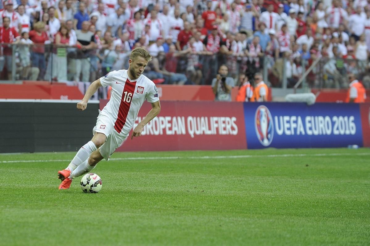 Jakub Błaszczykowski na meczu Polska-Gruzja