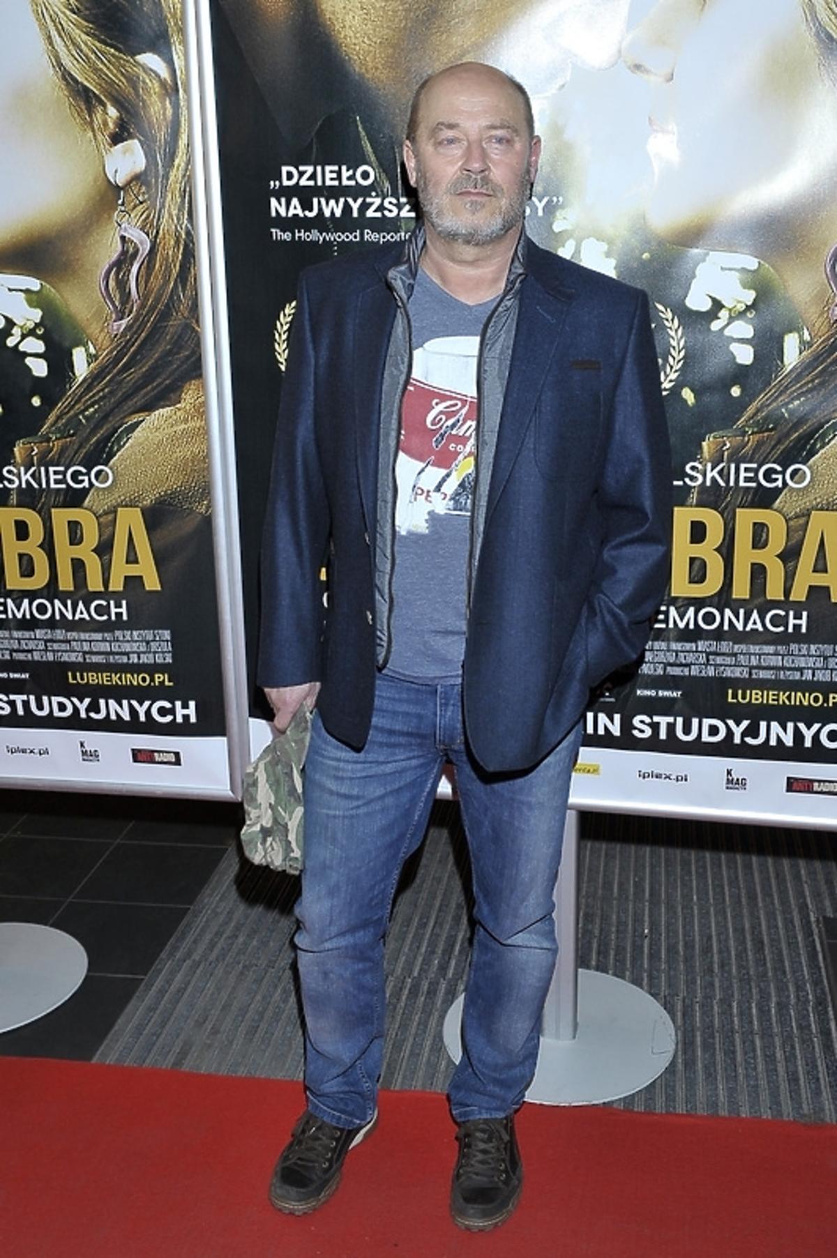 Jan Jakub Kolski na premierze filmu Zabić Bobra