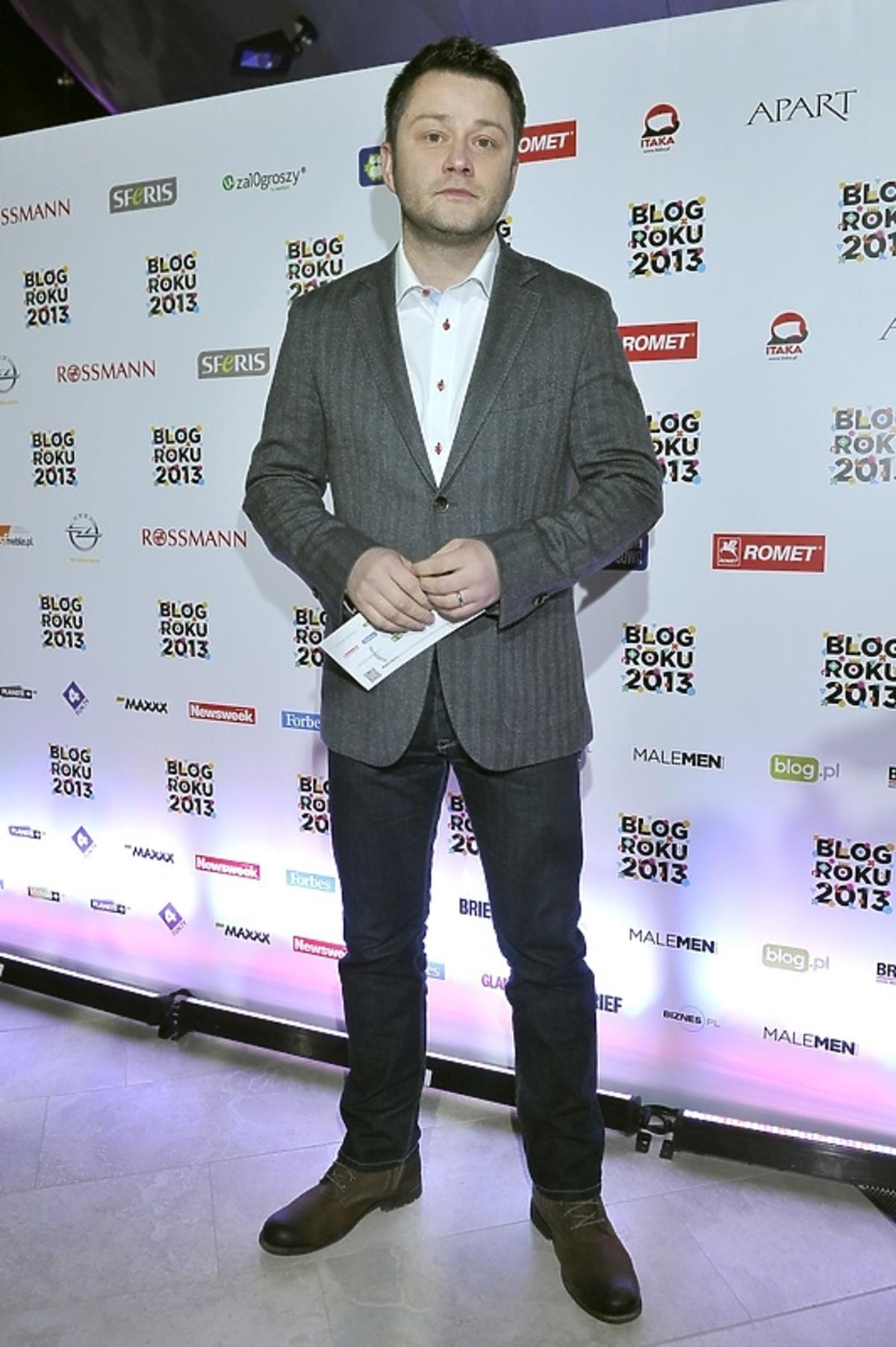 Jarosław Kuźniar na gali Blog Roku 2013