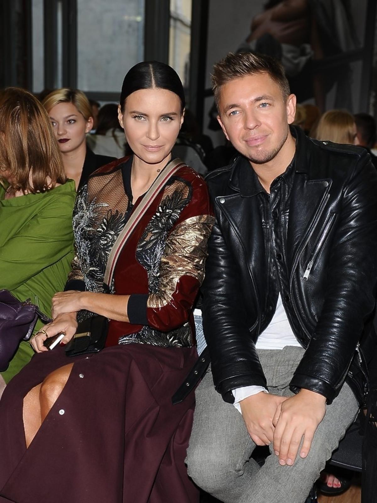 Joanna Horodyńska i Łukasz Jemioł siedza razem na pokazie