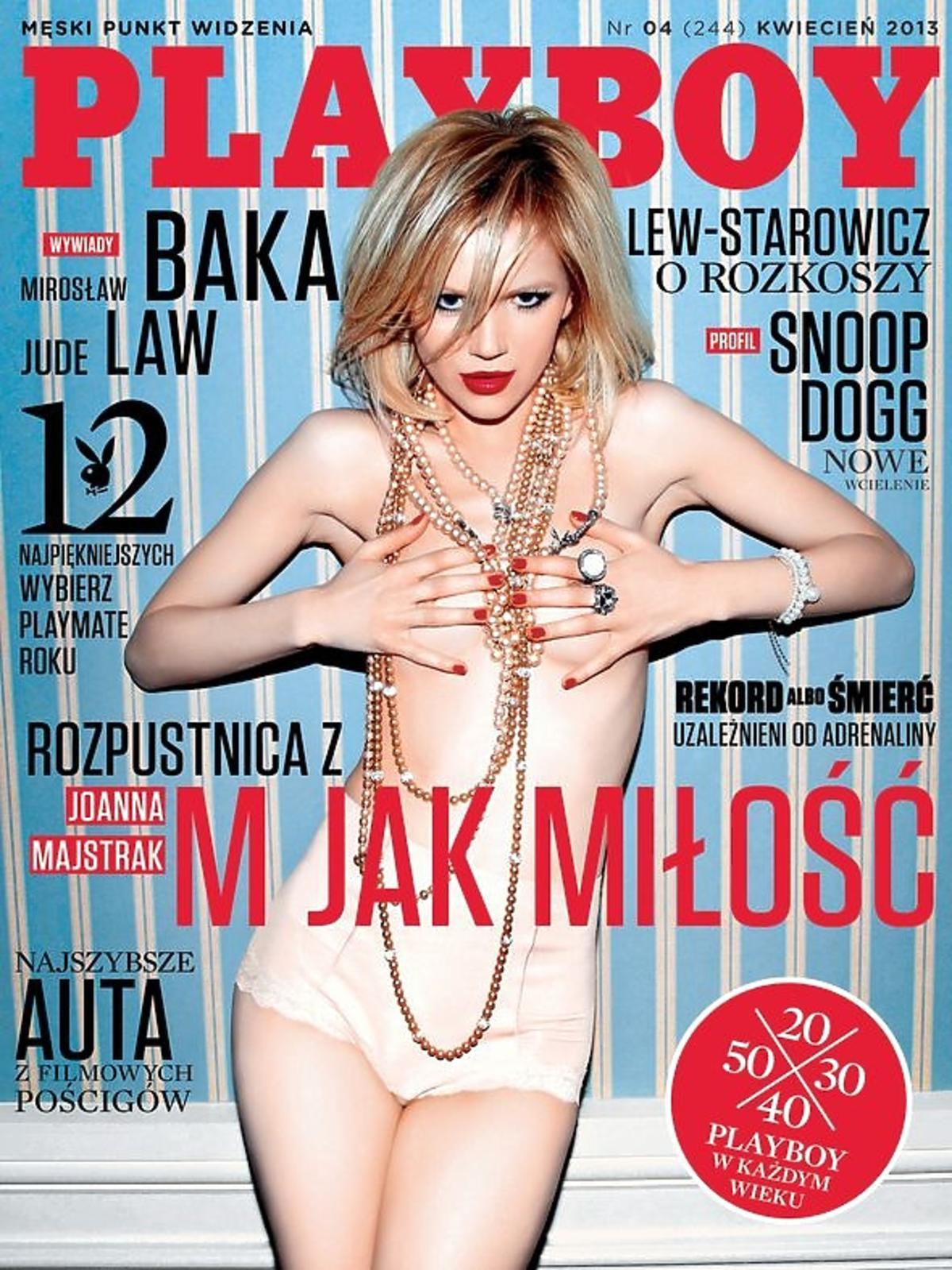 Joanna Majstrak na okładce Playboya. Joanna Majstrak nago