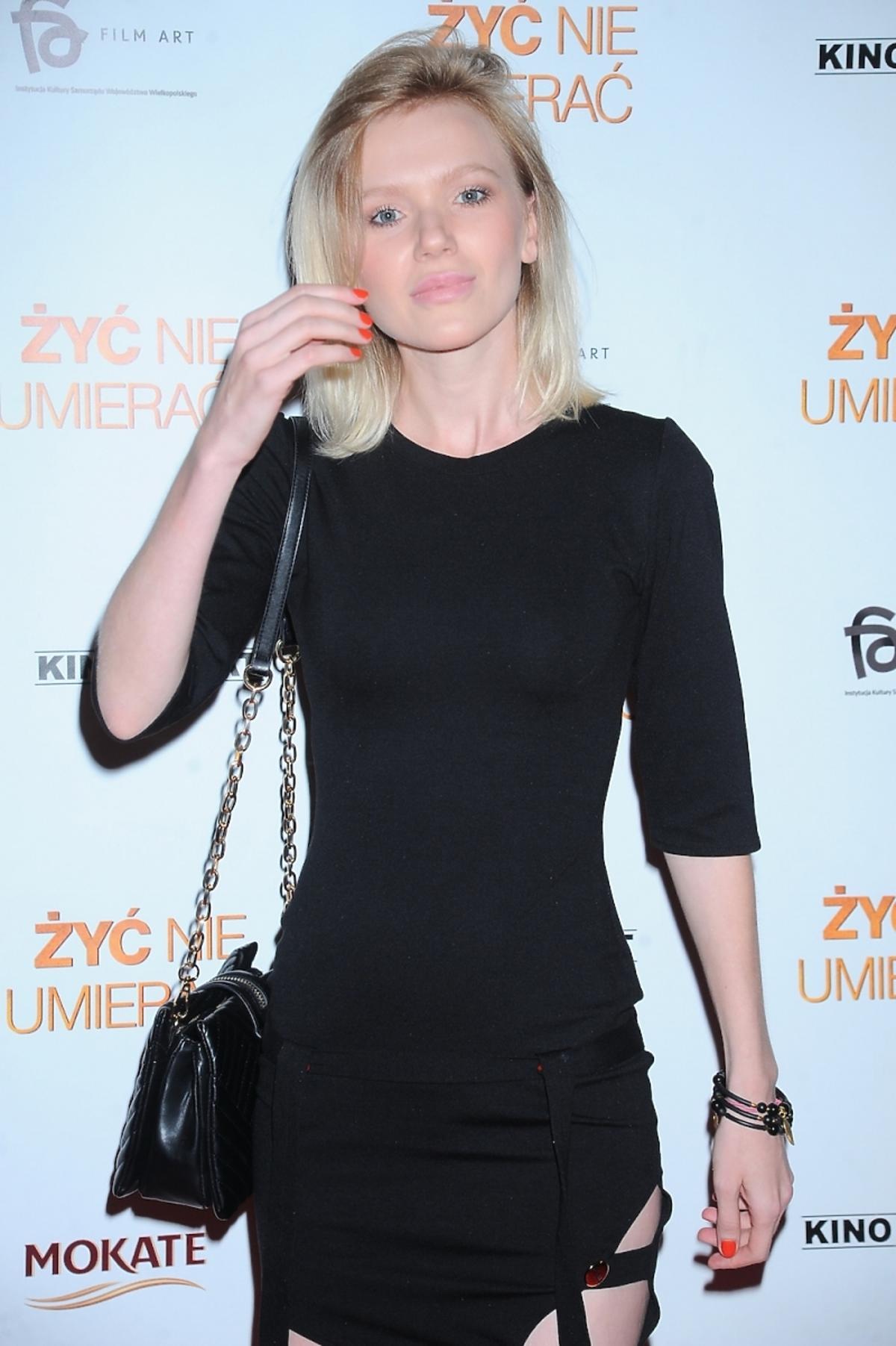 Joanna Majstrak na premierze filmu