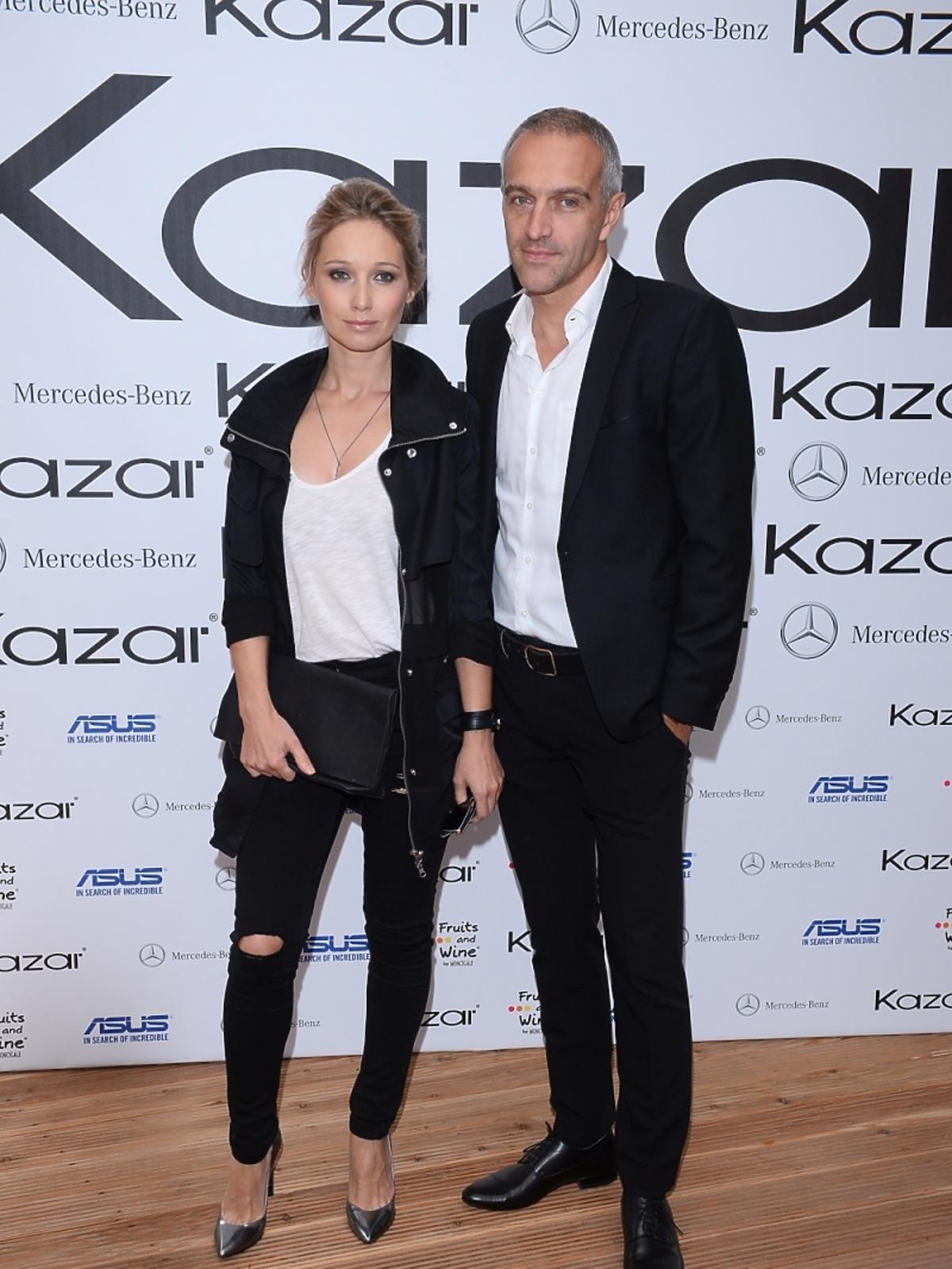Joanna Orleańska z mężem na pokazie kolekcji marki Kazar
