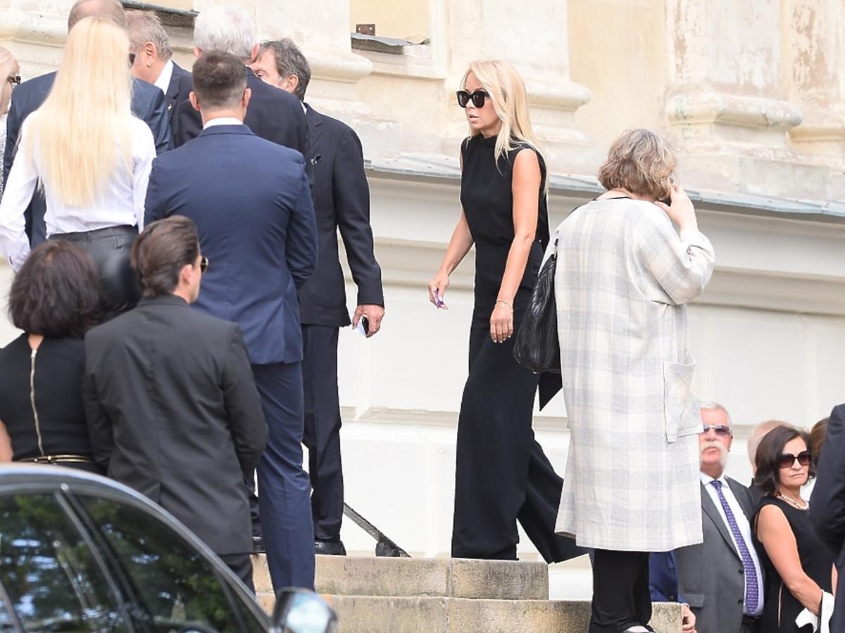 Joanna Przetakiewicz na pogrzebie Jana Kulczyka