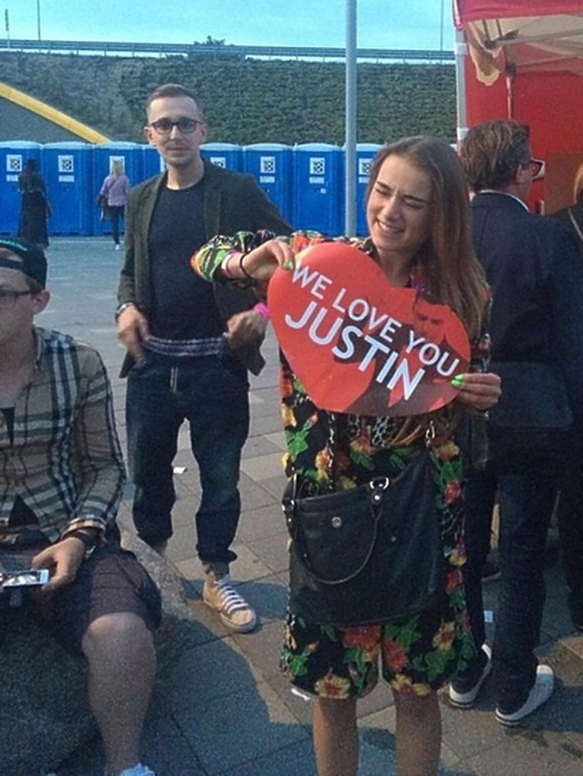 Julia Kuczyńska Maffashion na koncercie Justina Timberlake'a w Gdańsku