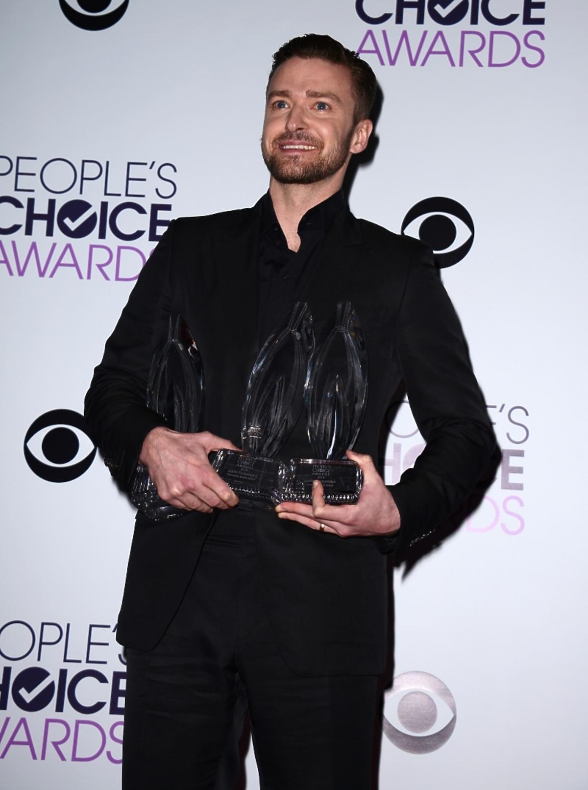 Justin Timberlake na People's Choice Awards 2013
