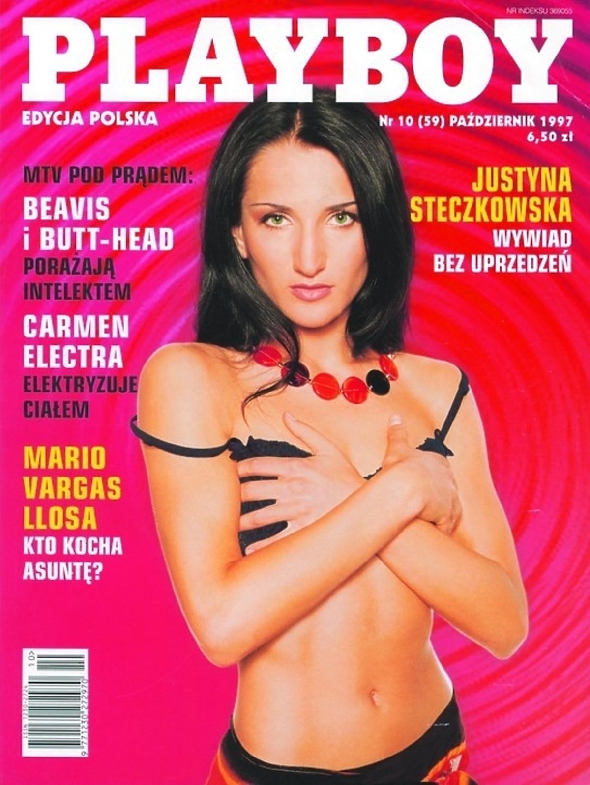 Justyna Steczkowska na okładce Playboya