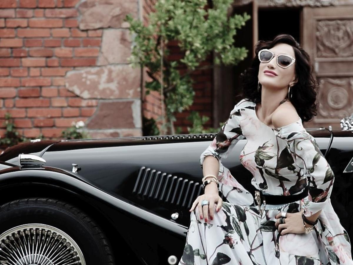 Justyna Steczkowska na planie teledysku do piosenki