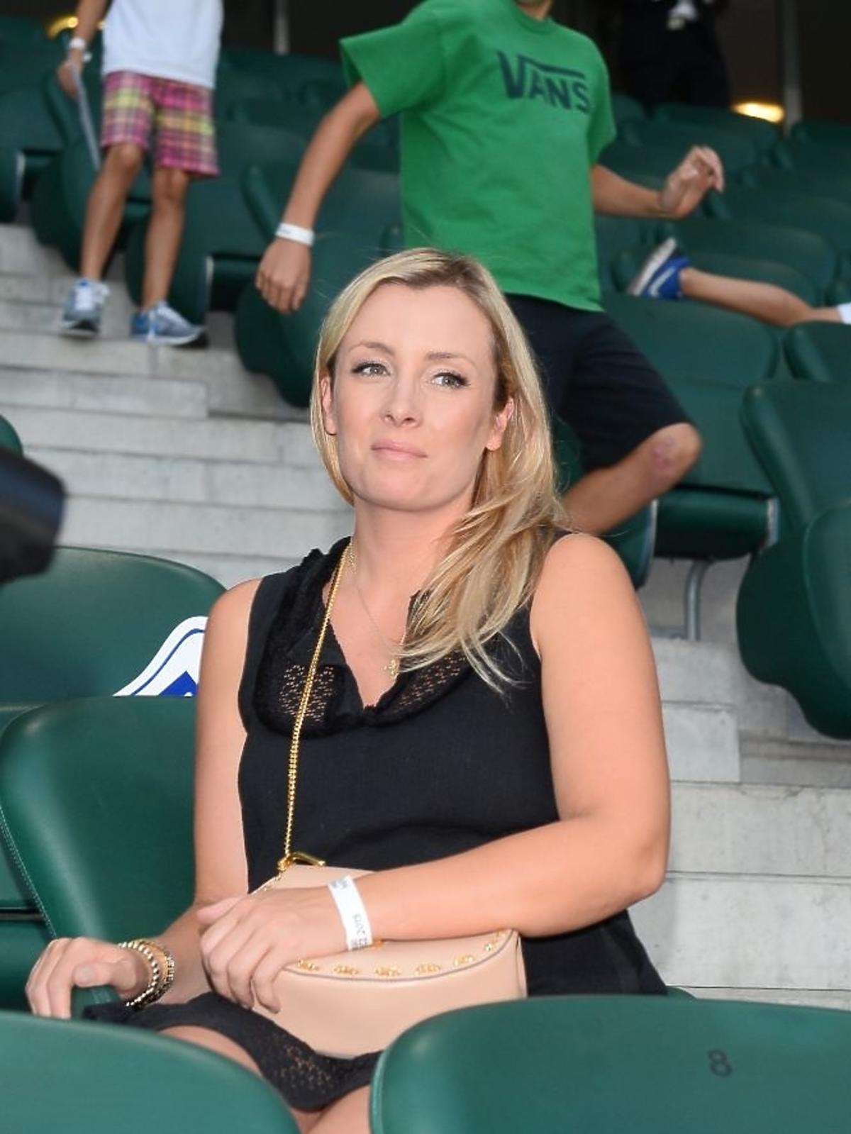 Karolina Ferenstei-Kraśko na meczu TVP kontra TVN