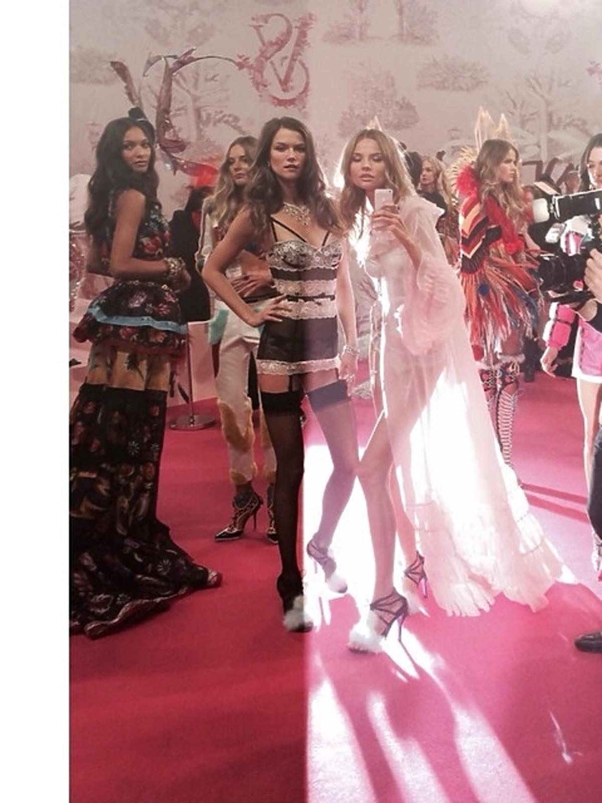 Kasia Struss i Magda Frąckowiak na pokazie Victoria's Secret