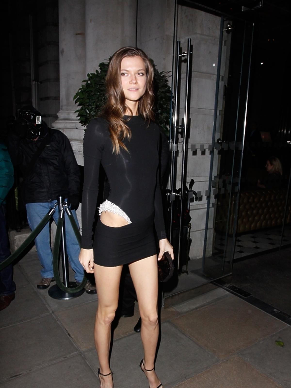 Kasia Struss po pokazie Victoria's Secret w Londynie