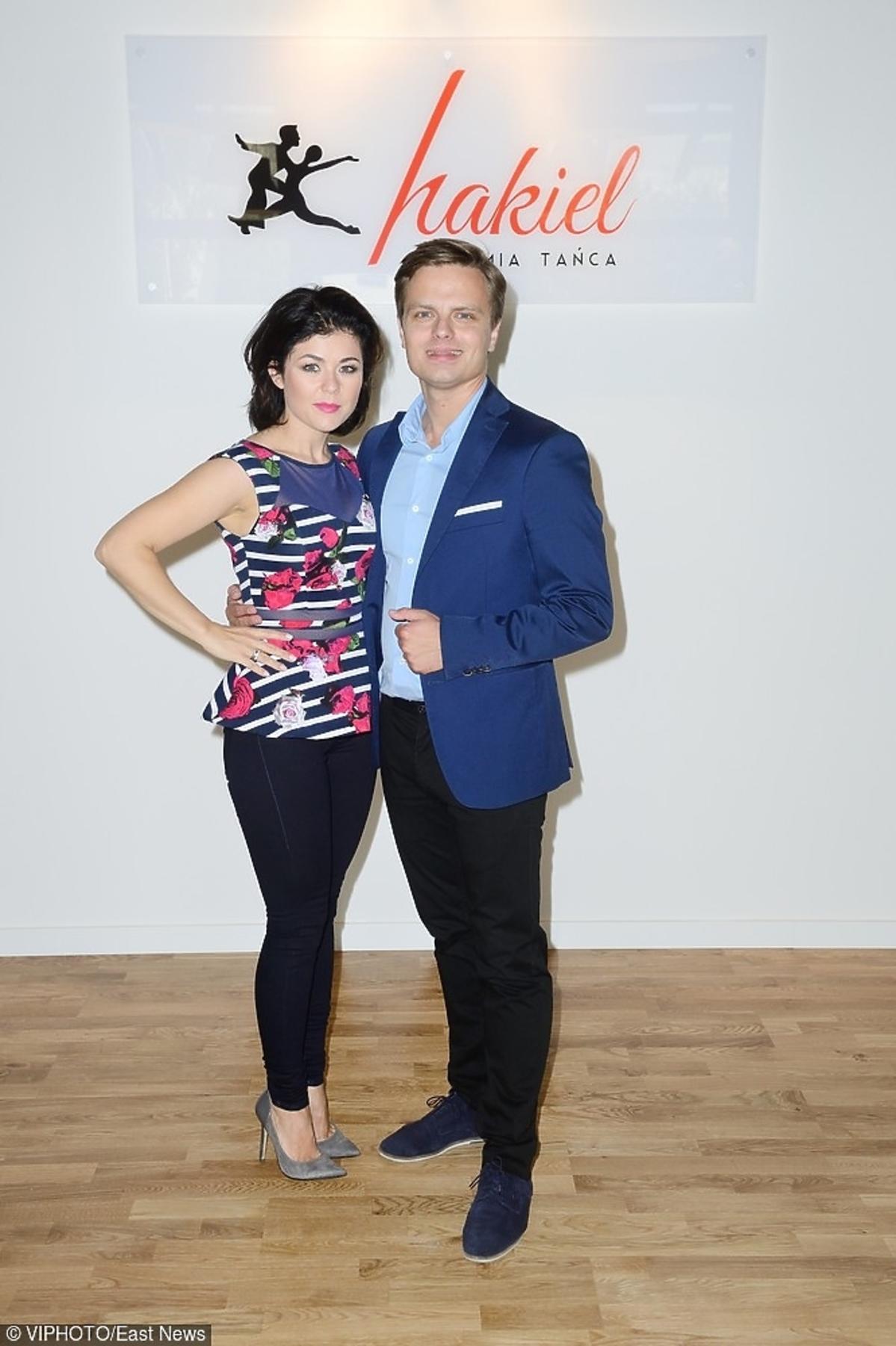 Katarzyna Cichopek i Marcin Hakiel na otwarciu szkoły tańca
