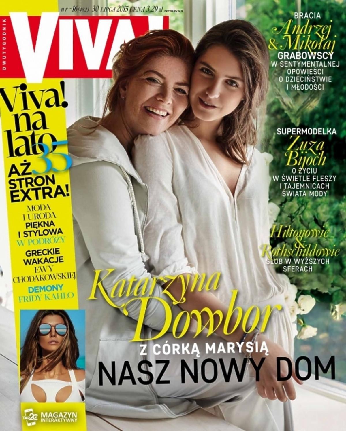 Katarzyna Dowbor z córką na okładce Vivy!