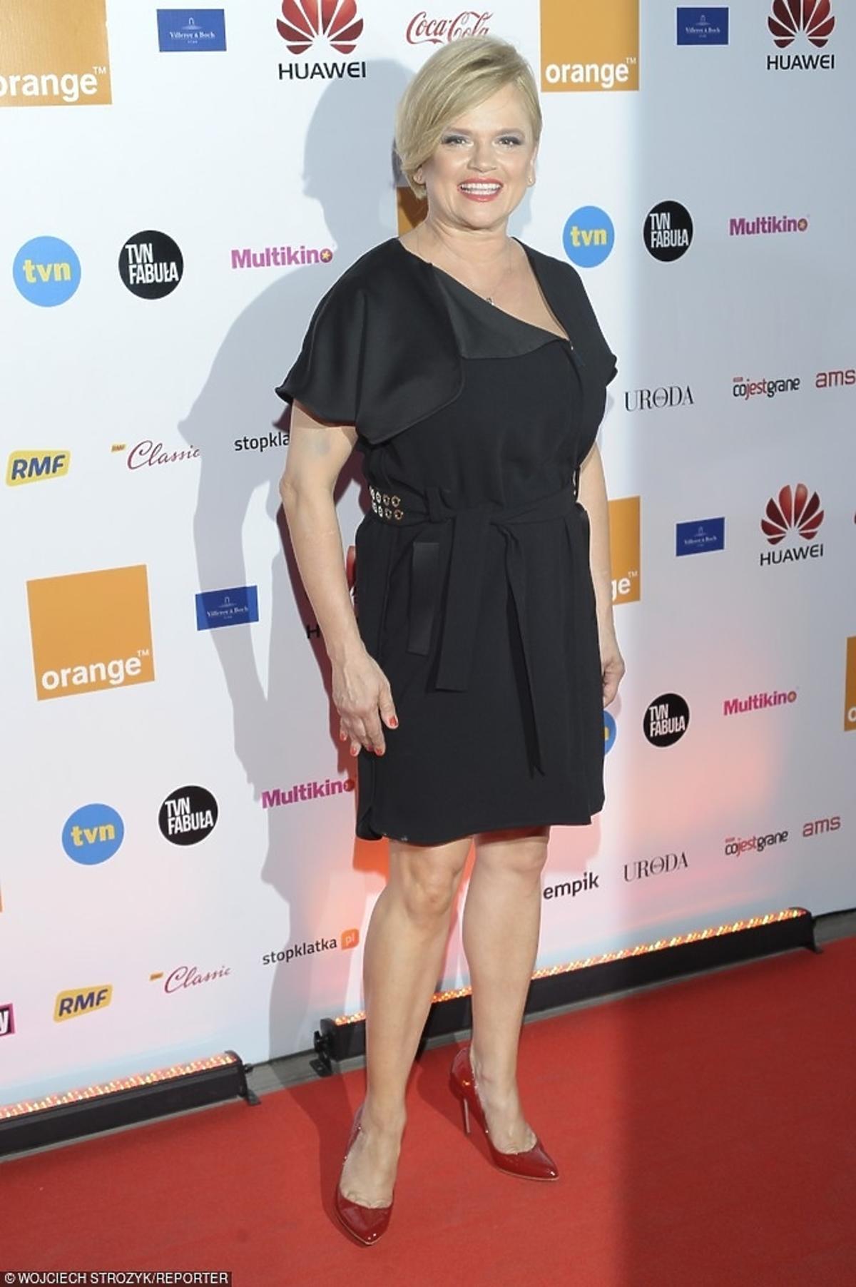 Katarzyna Figura na gali wręczenia Diamentowego Klapsa Filmowego