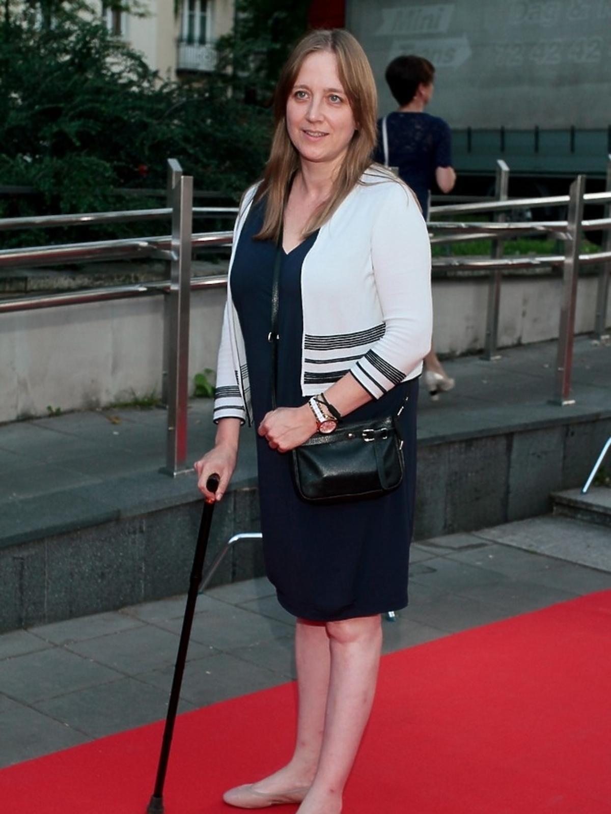 Katarzyna Montgomery na premierze serialu