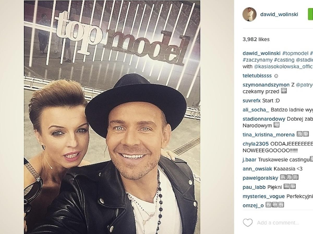Katarzyna Sokołowska, Dawid Woliński, casting do piątej edycji Top Model