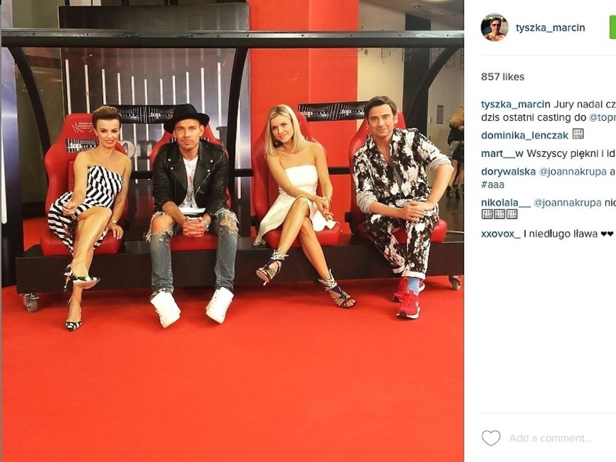 Katarzyna Sokołowska, Marcin Tyszka, Joanna Krupa, Dawid Woliński, casting do piątej edycji Top Model