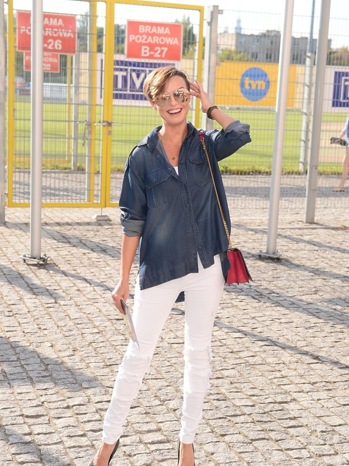 Katarzyna Sokołowska mecz Gwiazdy TVP TVN 2015