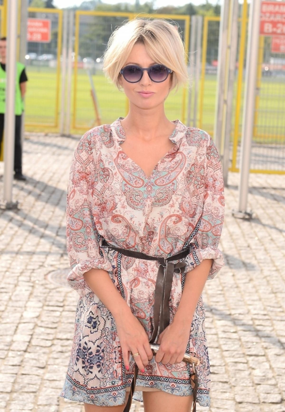 Katarzyna Zdanowicz na meczu TVN-TVP
