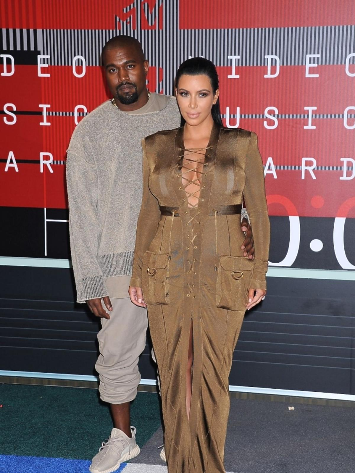Kim Kardashian i Kanye West na gali MTV Music Awards 2015