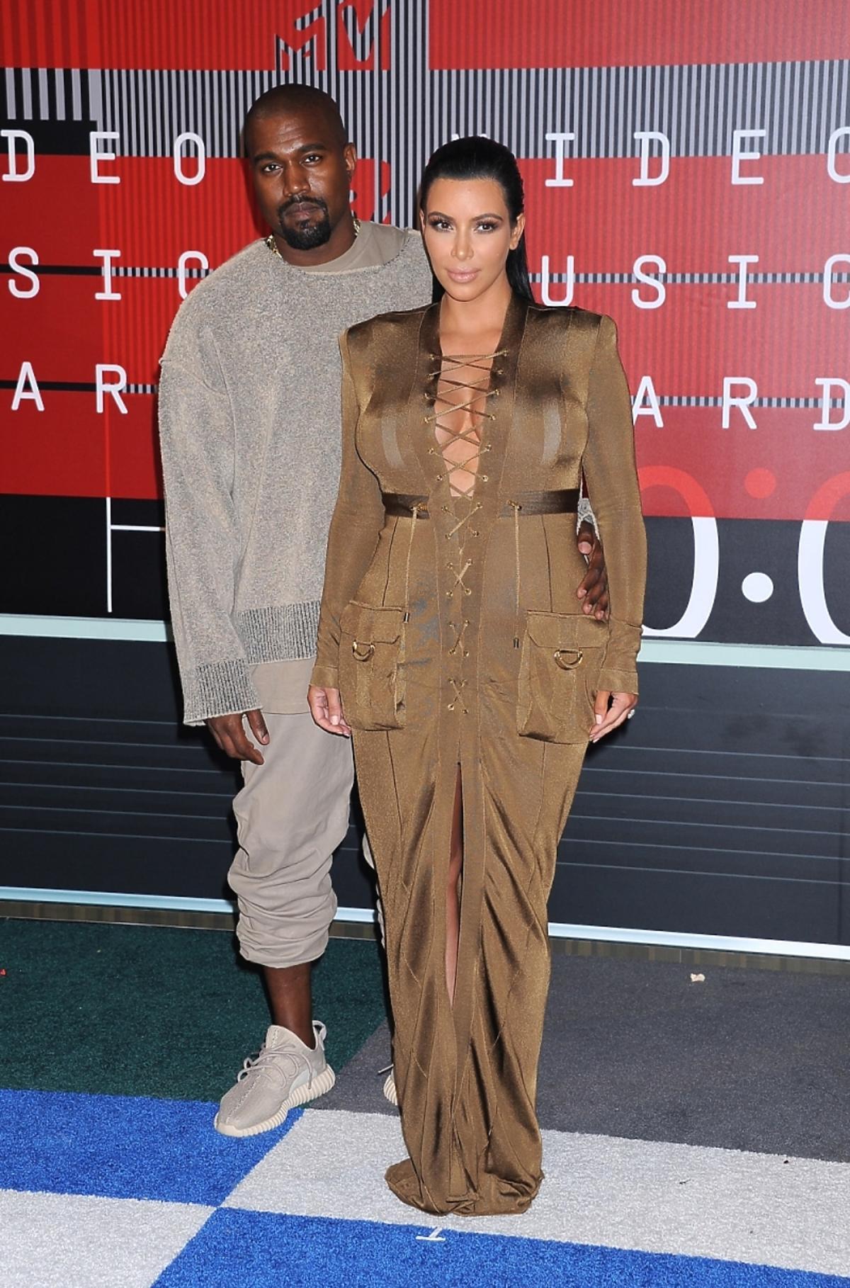 Kim Kardashian i Kanye West na gali MTV VMA 2015
