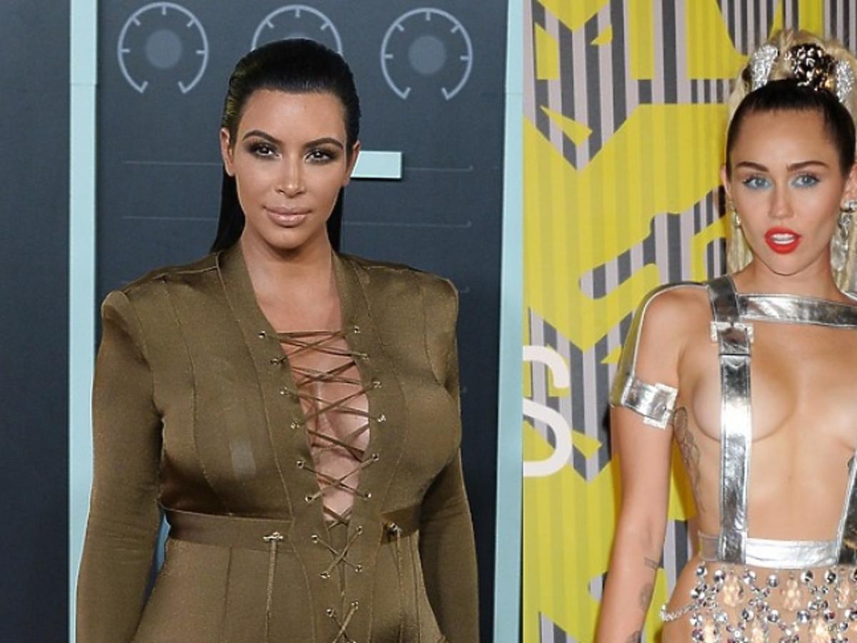 Kim Kardashian, Miley Cyrus, MTV Video Music Awards 2015