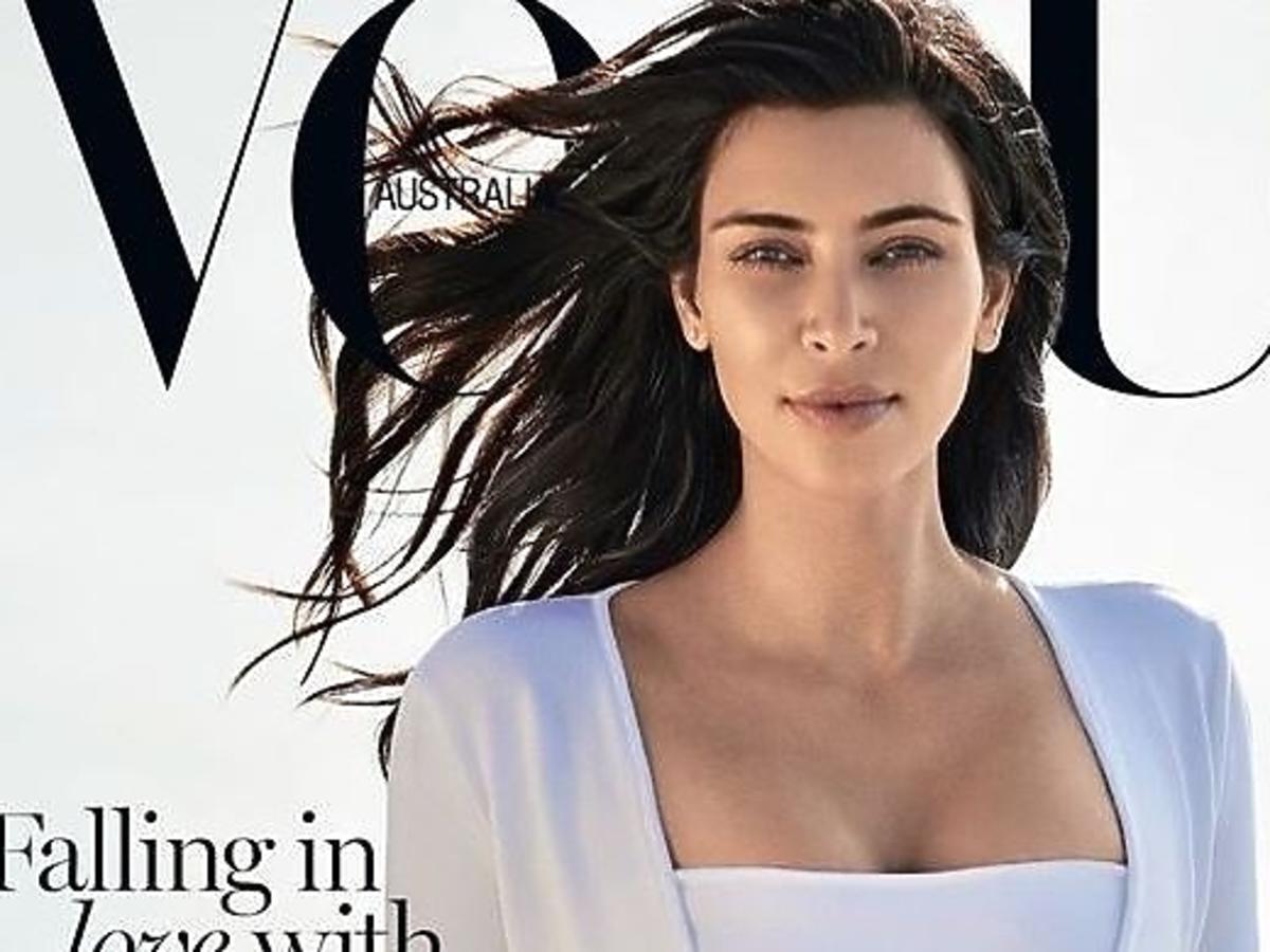 Kim Kardashian w makijażu i bez