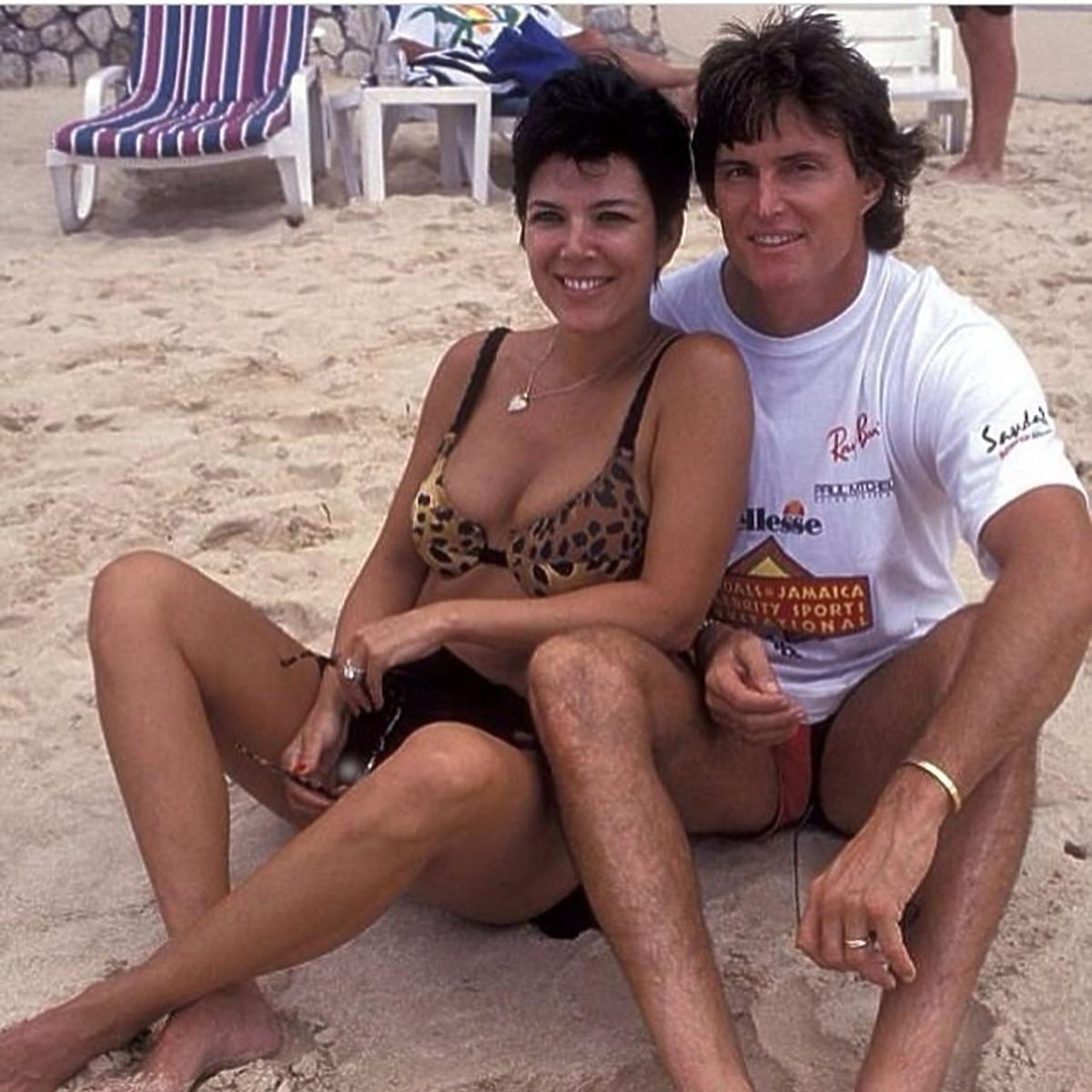 KRis Jenner i Bruce Jenner na plaży